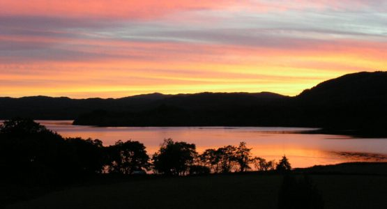 Barr-beithe Upper sunset over Loch Awe