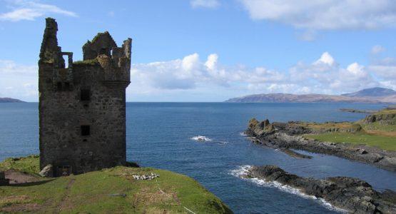 Gylen Castle on the Island of Kererra