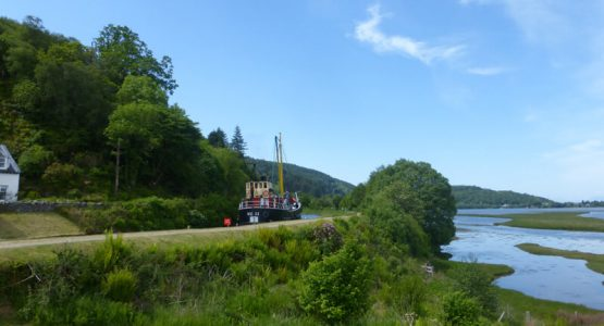 Steamer VIC32 on Crinan Canal