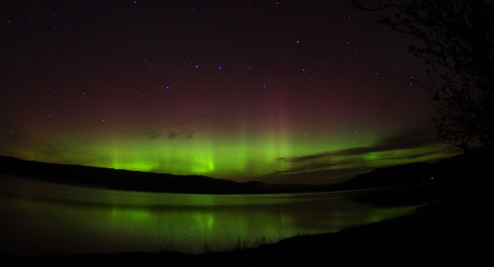 Aurora on Loch Awe