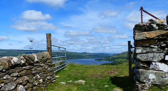 Gateway at the old stance above Barr-beithe