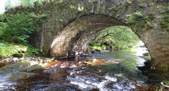 Water flowing under the bridge over Allt Beochlich, Loch Awe, Argyll