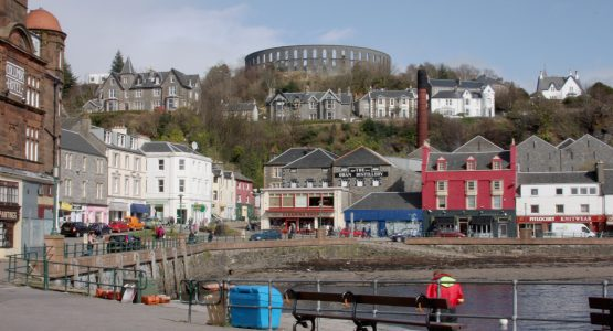 McCaig's Tower overlooking Oban Bay