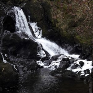 Ice on the Wee Waterfall at Blarghour