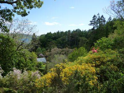 National Trust Garden and greenhouse, Oban, Scotland,