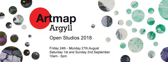 Poster advertising Art Map Argyll's Open Studios Weekends